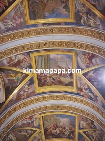 イムディーナ、聖パウロ大聖堂の天井