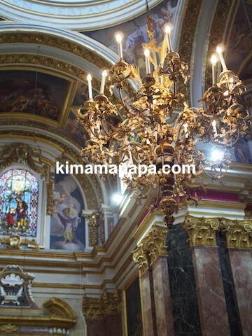 イムディーナ、聖パウロ大聖堂のシャンデリア