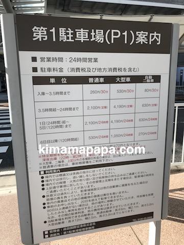 成田第1ターミナル、第1駐車場