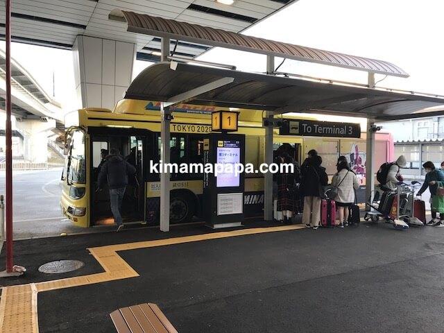 成田第2ターミナル、第3ターミナル行き連絡バス