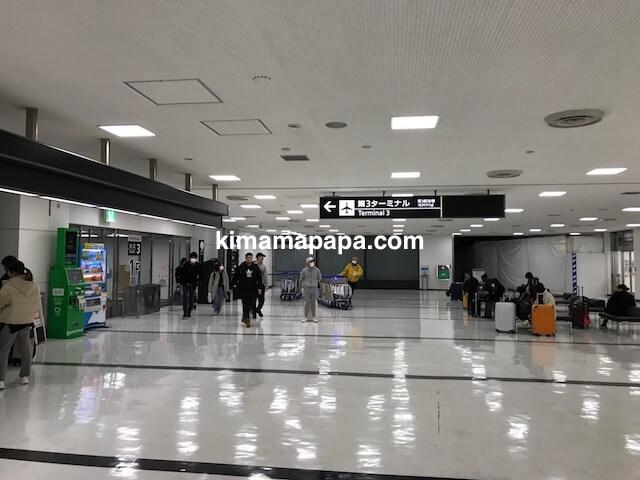 成田第2ターミナル、第3ターミナルへの出口