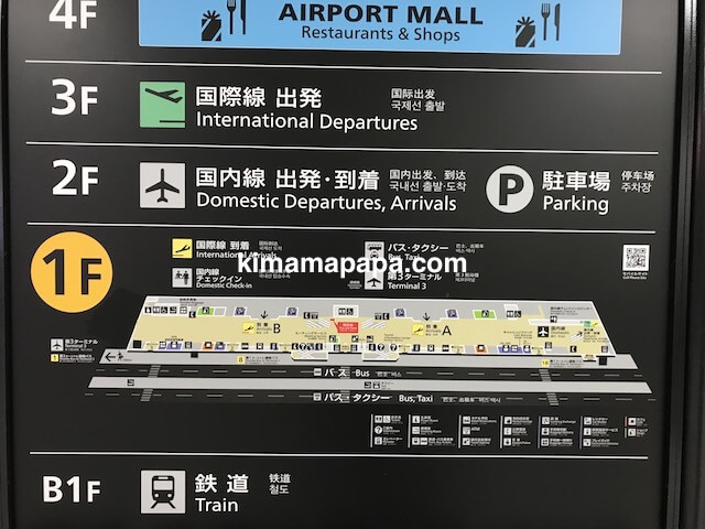 成田第2ターミナル、1階地図