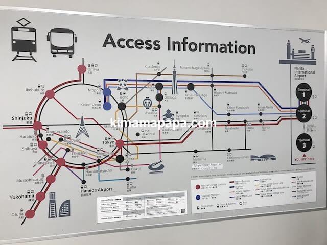 成田第3ターミナル、アクセスインフォメーション