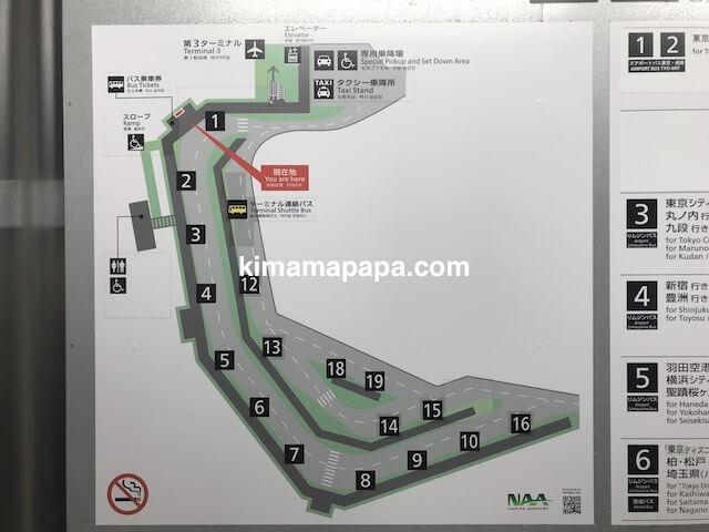 成田第3ターミナル、バスターミナル地図