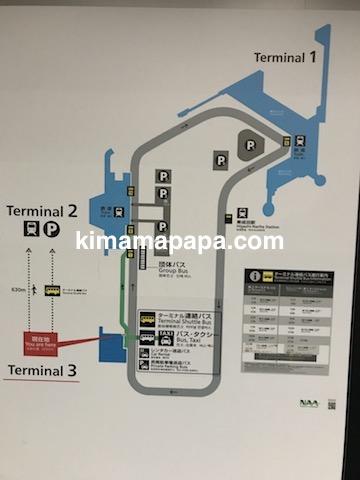 成田第3ターミナル、シャトルバス案内