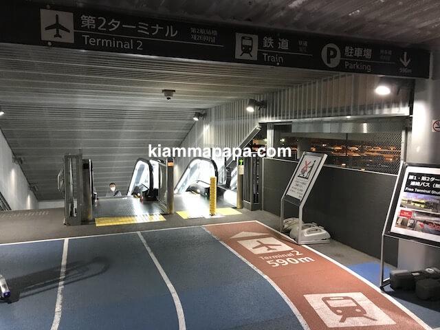 成田第3ターミナル、第2ターミナルまでの道