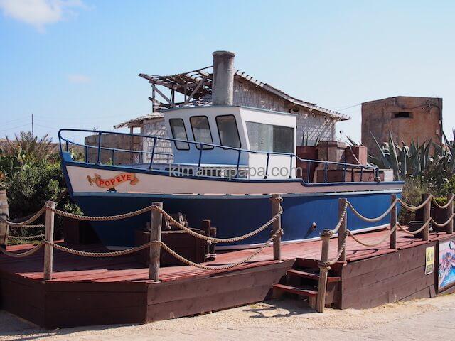 ポパイ村の船