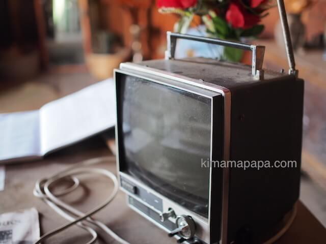 ポパイ村の古いTV