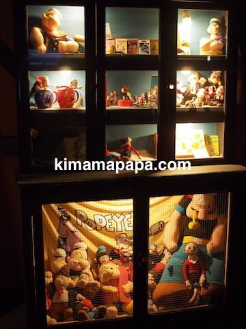 ポパイ村のコミック博物館の展示品