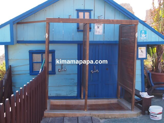 ポパイ村のシャワー
