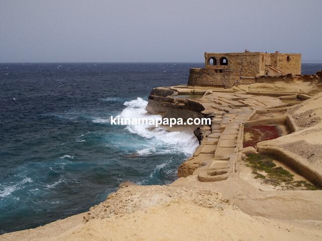 ゴゾ島、ソルトパンの砲台