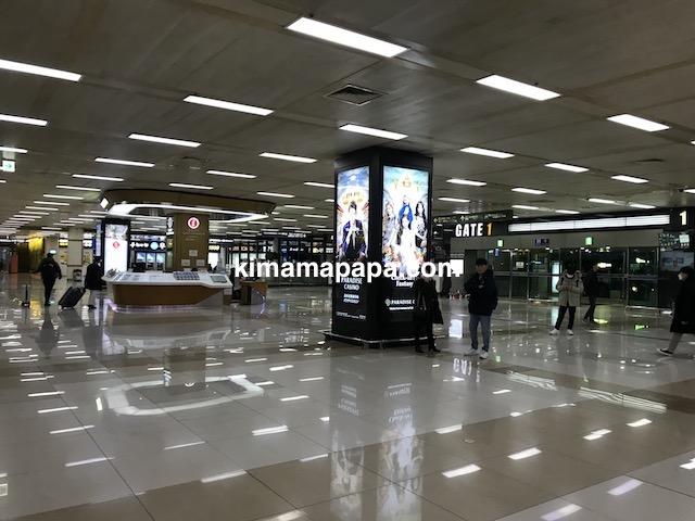 金浦空港、1階到着ロビー