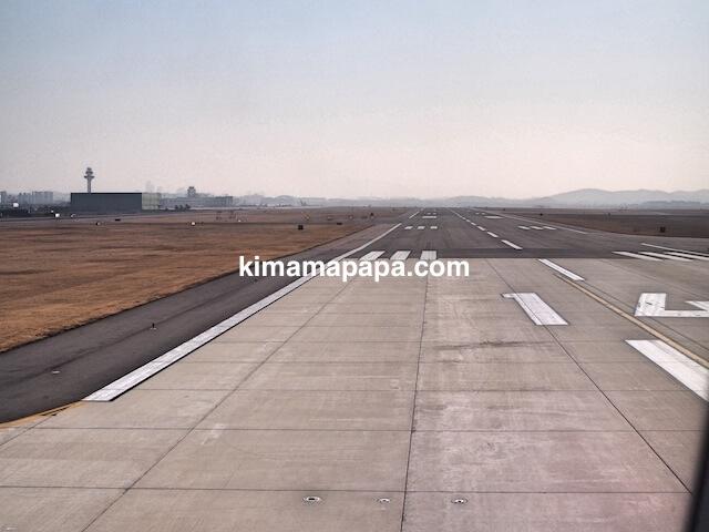 ソウル金浦空港の14滑走路