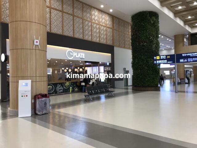 ソウル金浦空港、3階出発フロア34番ゲート付近のご飯屋