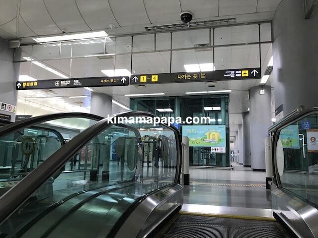 ソウル金浦空港、空港鉄道ホーム地下1階
