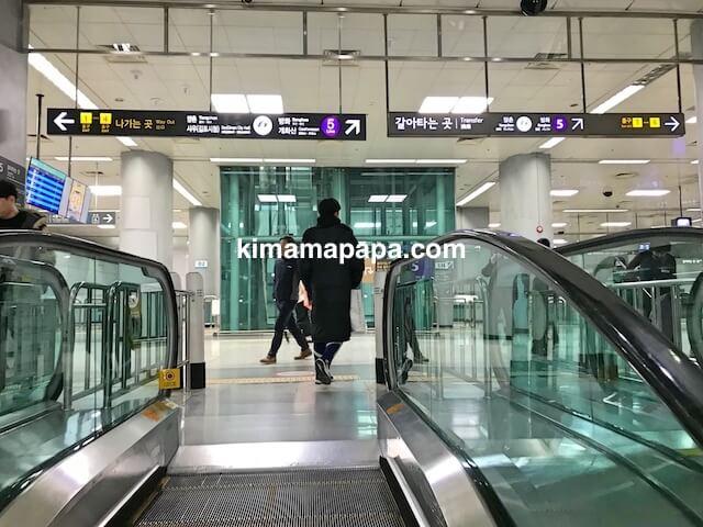 ソウル金浦空港、空港鉄道ホーム地下2階