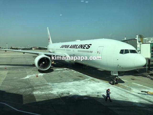 ソウル金浦空港、JAL便ボーイング777-200
