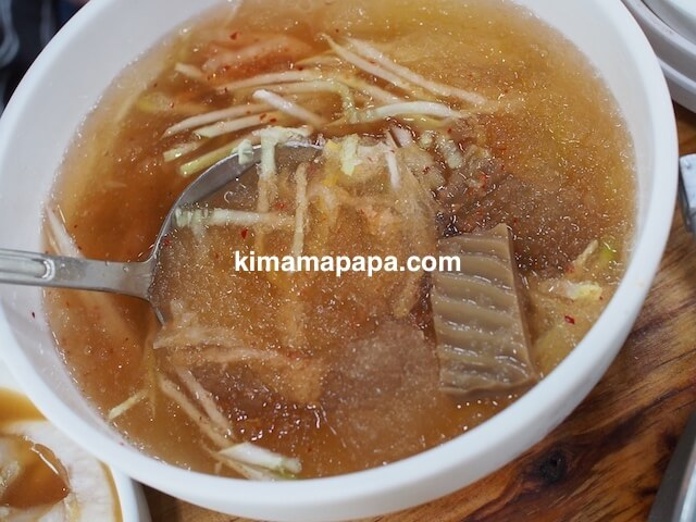 ソウル(孔徳/コンドック)、タラクバン・ファログイのどんぐりの酢の物