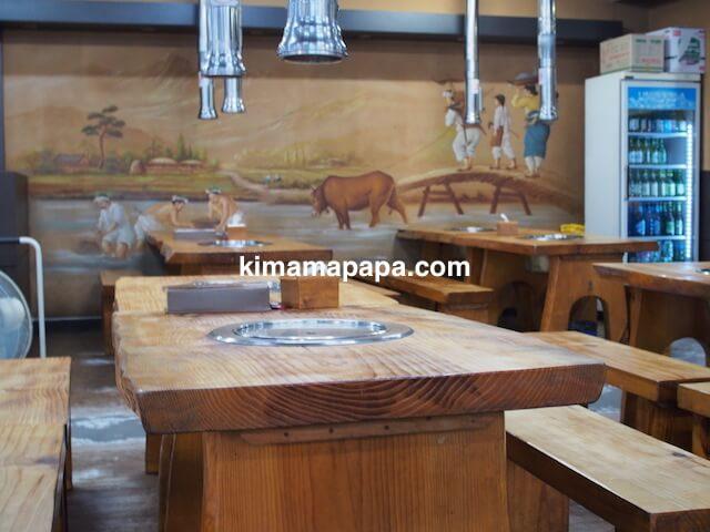 ソウル(孔徳/コンドック)、タラクバン・ファログイのテーブル