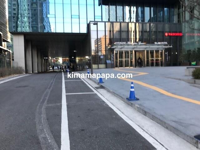 ソウル孔徳、ホテルグラッド麻浦の入口
