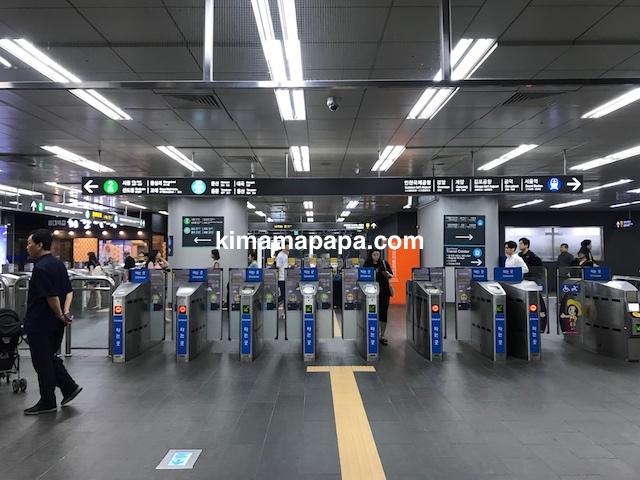 弘大入口(ホンデイック)駅の改札