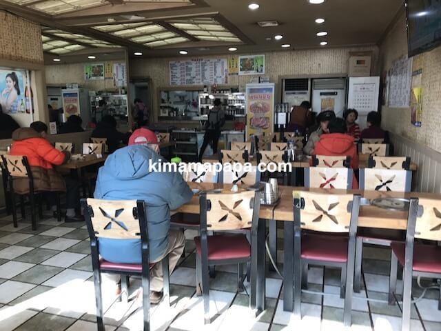 ソウル鍾路3路、百済精肉店の店内