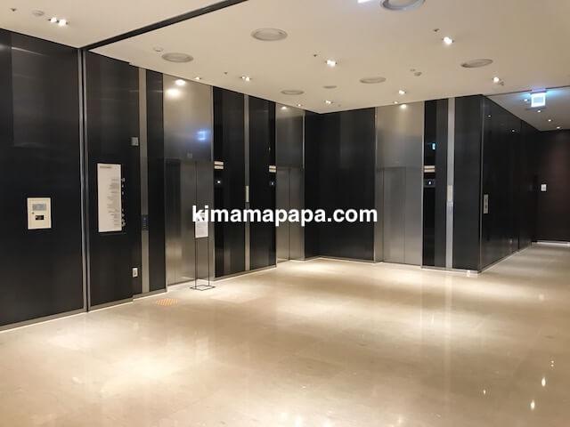 ソウル孔徳、ロッテシティホテル麻浦の2Fエレベーターホール