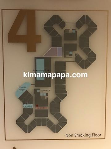 ソウル孔徳、ロッテシティホテル麻浦の4Fフロアマップ