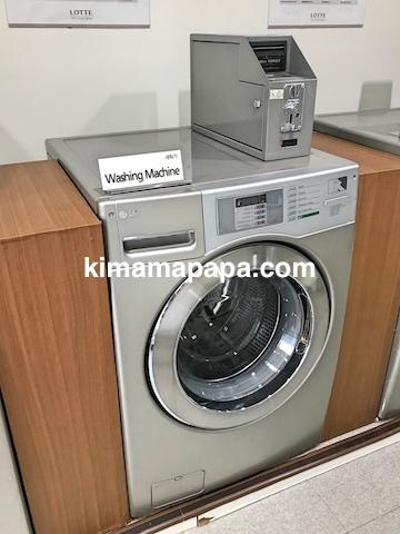 ソウル孔徳、ロッテシティホテル麻浦のコインランドリーの洗濯機