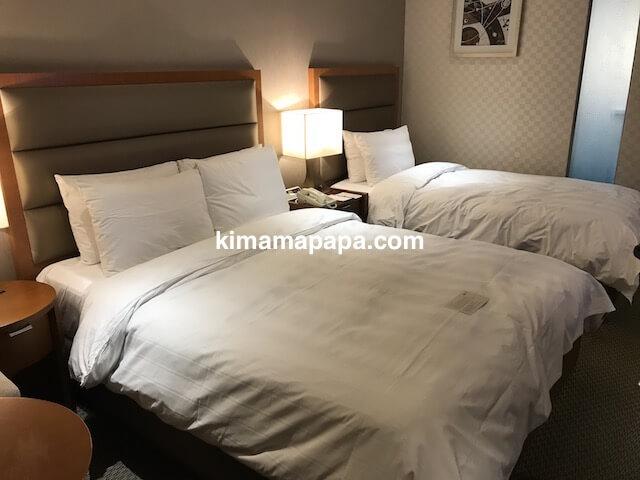 ソウル孔徳、ロッテシティホテル麻浦のデラックスファミリーツインルーム