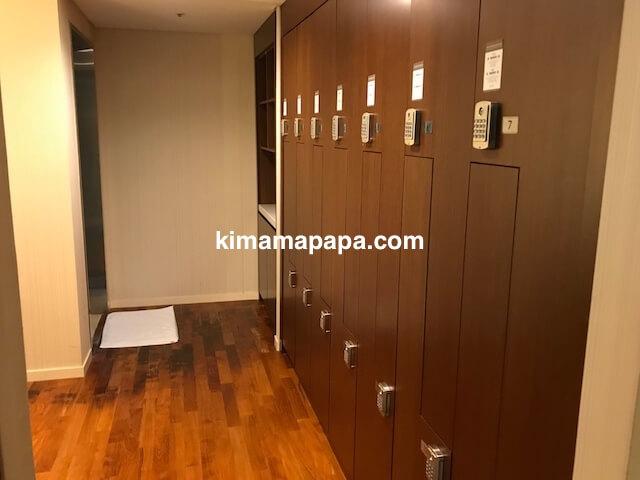 ソウル孔徳、ロッテシティホテル麻浦のフィットネスジムのロッカールーム