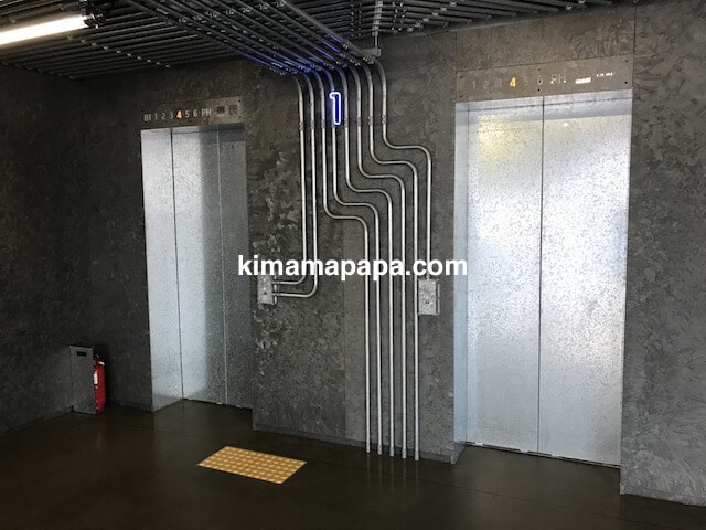 ソウルのノニョンドン、ヒュンダイ1Fのエレベーター