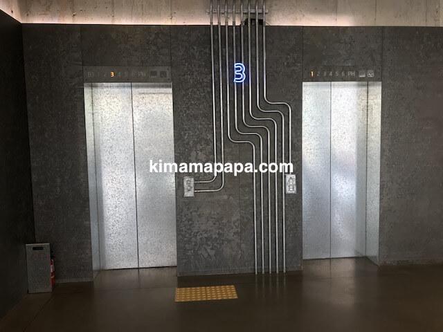 ソウルのノニョンドン、ヒュンダイ3Fのエレベーター