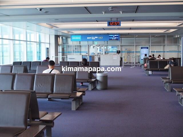 ソウル、仁川(インチョン)空港の117番 ゲート