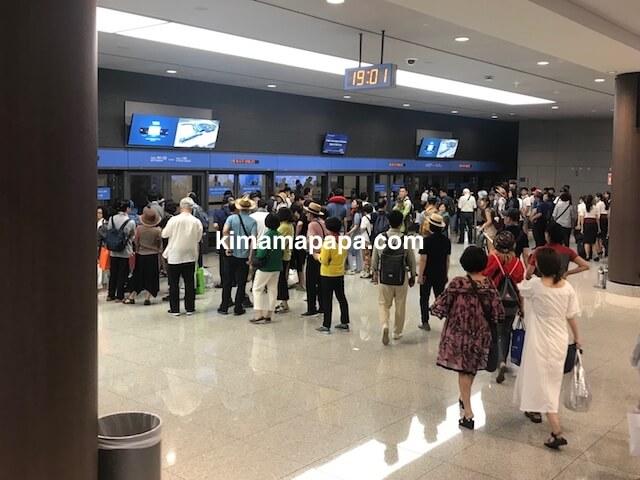 ソウル、仁川(インチョン)空港のシャトルトレイン乗り場