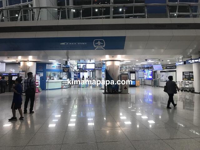 ソウル、仁川(インチョン)空港のA'REX改札