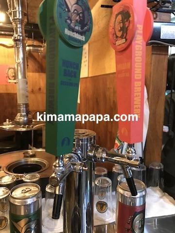 ソウル駅近く、熟成肉屋ドゥトムのクラフトビールサーバー