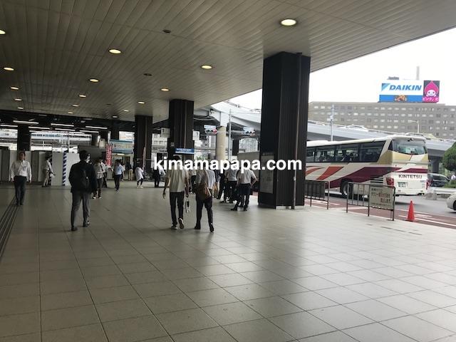 新大阪駅から伊丹空港へ向かうバス停