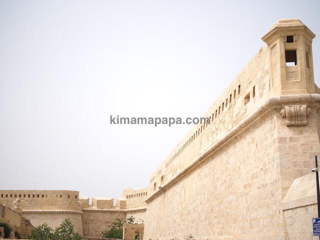 ヴァレッタ、聖エルモ砦の城壁