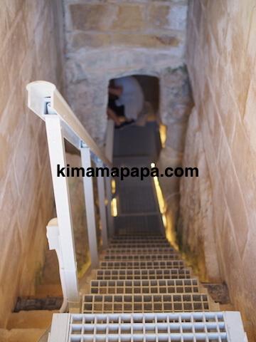 聖パウロカタコンベ、地下への階段