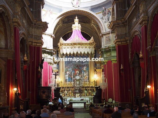 ラバト、聖パウロ教会の内部