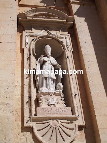 ラバト、聖パウロ教会の像
