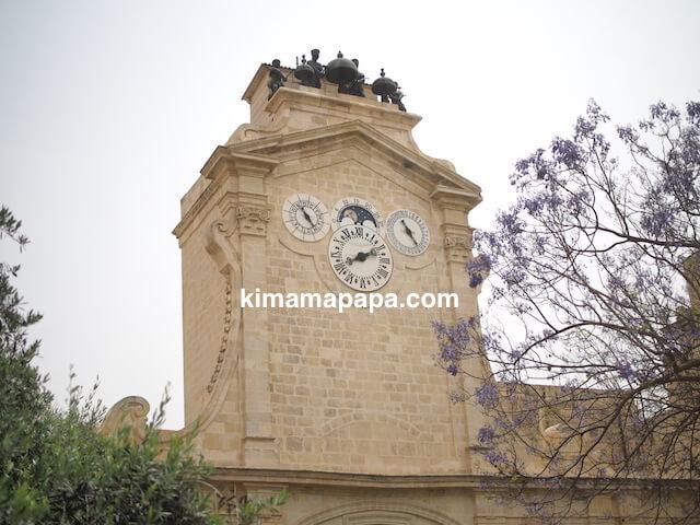 ヴァレッタ、騎士団長の宮殿の時計台