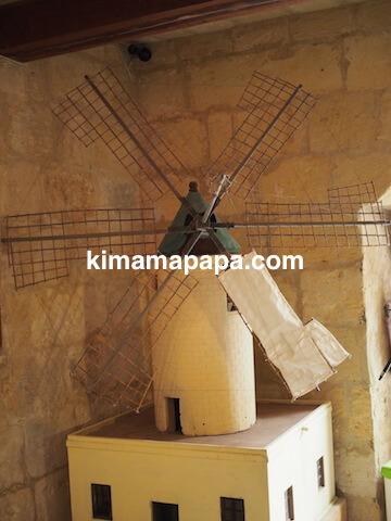 ゴゾ島、タ・コーラ風車の模型