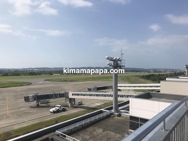 富山空港の滑走路