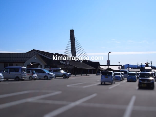 氷見市、ひみ番屋街の駐車場