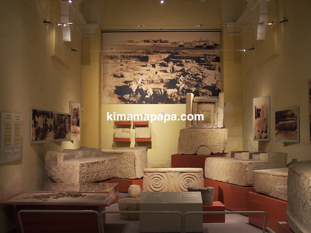 ヴァレッタの国立考古学博物館、神殿の出土品