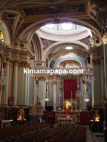 ヴァレッタ、アッシジの聖フランシスコ教会の内部