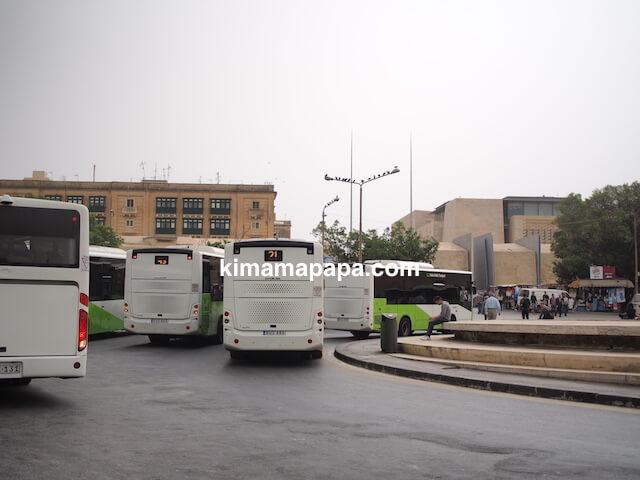 マルタ、ヴァレッタのバスターミナル降り場