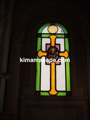 ヴァレッタ、マウント・カーメル大聖堂のステンドグラス